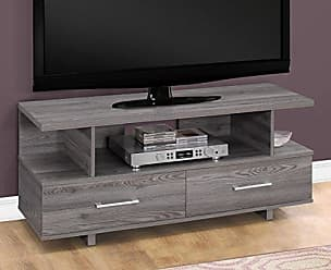 Monarch Specialties TV Stand, Grey, I 2608