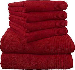 6-teilig Dyckhoff 0410996325 Handtuchset Brillant apfel 2 Badet/ücher // Duscht/ücher 70 x 140 cm und 4 Handt/ücher 50 x 100 cm