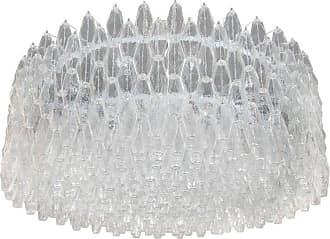 VENINI Monumental Chrome & Handblown Smoked Murano Glass Polyhedral Venini Chandelier
