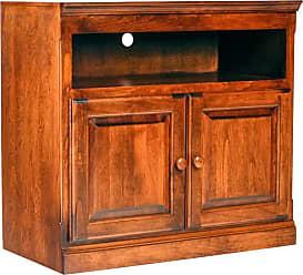Forest Designs Traditional Alder TV Cart Unfinished Alder, Size: 33 in. - B4511C- TA-33W-UA