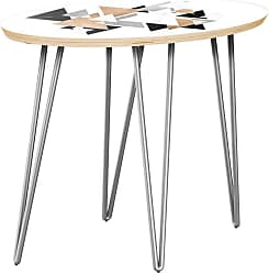 NyeKoncept Ondine Marble & Gold Hairpin Side Table - 12010295