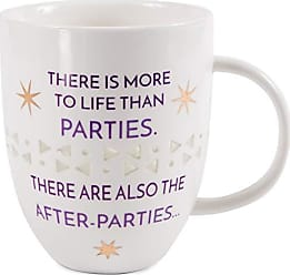 Pavilion Gift Company 66581 Pavilion-There is More to Life Than Parties-24 oz Large Thin Porcelain Coffee Cup Mug 24 oz Purple