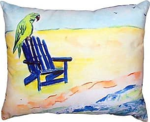 Betsy Drake NC398 Parrot & Chair No Cord Pillow 16 x20