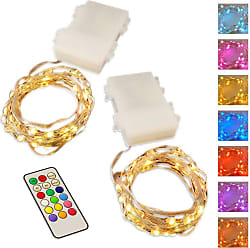 LumiSource Multi-Color Mini String Lights with Remote Control and Timer - Set of 2 - 67602