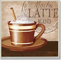 The Stupell Home Décor Collection Stupell Home Décor Mocha Latte Blend Wall Plaque, 12 x 0.5 x 12, Proudly Made in USA