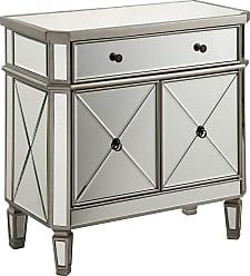 Elegant Lighting 1 Drawer 2 Door Cabinet L60W16H32 Silver Clear
