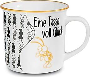 NICI 35882 Tasse en porcelaine avec smiley et inscription /«/Have a nice day//» Jaune
