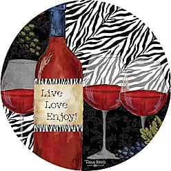 Thirstystone Stoneware Coaster Set, Zebra Wine