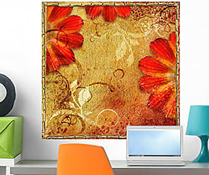 Wallmonkeys Floral Autumn Colors Wall Mural Peel and Stick Graphic (24 in H x 24 in W) WM297712