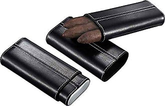 Visol Products Visol VCASE701 Naturale Black Leather Cigar Case with Interior Cedar Lining
