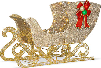 National Tree Company 24 in. Santas Sleigh Decoration with LED Lights - DF-070021U