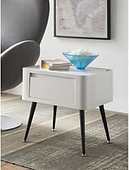4D Concepts Black and White Side Table - 124901