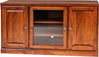 Forest Designs TV Cart with Media Storage and Glass Door Unfinished Alder, Size: 43 in. - B4122PLAINGLASS- TA-43W-UA