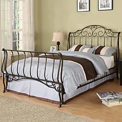 Weston Home Fullerton Metal Sleigh Bed - 779B211C[BED]