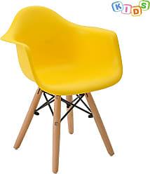 Rivatti Cadeira Infantil Eiffel Eames DAW Amarela