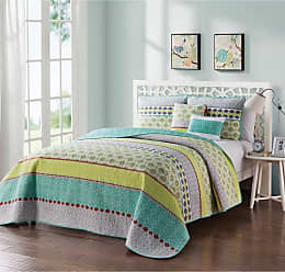 VCNY Multicolor Geometric Quilt Set by VCNY, Size: Twin - DH4-4QT-TWXT-IN-MU