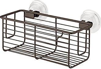 InterDesign Classico Suction Bathroom Shower Caddy Shelves for Shampoo, Conditioner, Soap