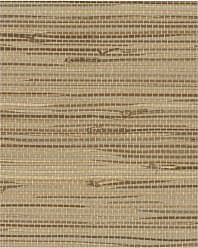 York Wallcoverings Grasscloth Wide Knotted Grass Wallpaper Metallic - VG4441