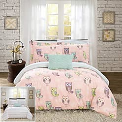 Chic Home Forest 6 Piece Reversible Comforter Cute Its A Hoot Owl Friends Youth Design Bed in a Bag-Sheet Set Decorative Pillow Sham Included, Twin Pink