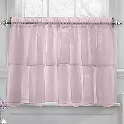 Sweet Home Collection Kitchen Window Tier, Swag, or Valance Curtain Treatment in Stylish and Unique Patterns and Designs for All Home Décor, 36, Cascading Pink