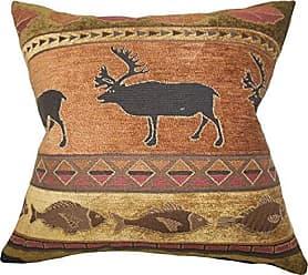 The Pillow Collection Hulda Animal Print Pillow, Brown Orange