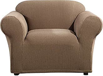 SureFit SF46463 Ultimate Stretch Suede Chair Olive Green