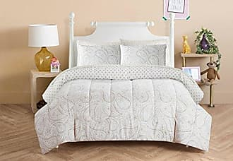 Idea Nuova Pop Shop Golden Paisley Bed in a Bag, Full, White, 7 Piece