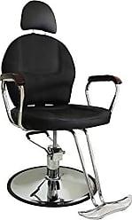 Pelegrin Cadeira Hidráulica para Barbearia Couro PU Preta PEL-C1306 - Pelegrin