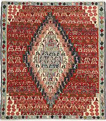 Nain Trading Authentic Kilim Senneh Rug 410x42 Dark Grey/Brown (Wool, Iran/Persia, Hand-Knotted)
