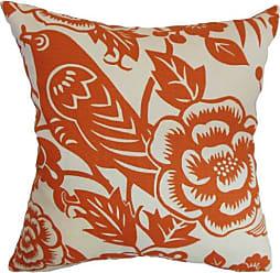 The Pillow Collection The Pillow Collection Campeche Floral Pillow, Tangerine