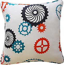 Ellery Homestyles Waverly Kids 16477015X015RED Robotic 15-Inch by 15-Inch Decorative Accessory Pillow, Red