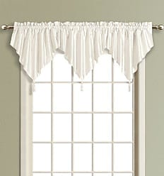 United Curtain Anna Ascot Valance, 42 by 24-Inch, White