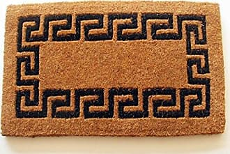 Geo Crafts Imperial Greek Key Doormat, 18 by 30-Inch, Black