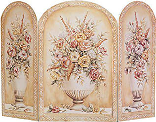 The Stupell Home Décor Collection Stupell Home Décor Floral Arrangement In White Vase 3-Panel Decorative Fireplace Screen, 44 x 0.5 x 31, Proudly Made in USA