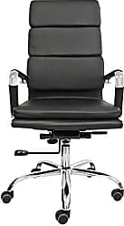 Pelegrin Cadeira Presidente Design Charles Eames em Couro Pu Preta Pelegrin Pel-7089h3