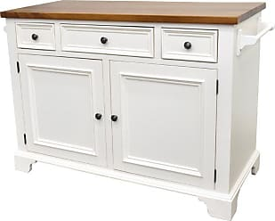 222 Fifth Hamilton 3 Drawer Kitchen Island White - 7046WH755A1R54