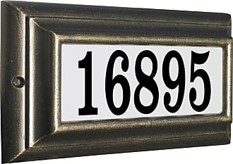 QualArc Edgewood Standard Lighted Address Plaque Oil Rub Bronze - LTS-1300-ORB