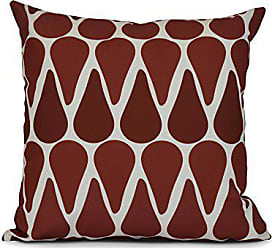 E by Design E by design Watermelon Seeds Geometric Print Outdoor Pillow 20 x 20 Red