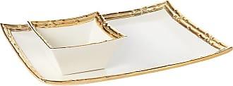 Aerin Mayotte Chip & Dip Set - White/Gold