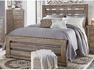 Progressive Furniture P635-80 Willow 6/6 King Slat Headboard, Weathered Gray