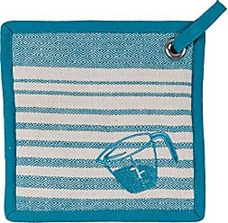 Kay Dee Designs Cooks Kitchen Birdseye Woven Embroidered Potholder with Grommets, Teal