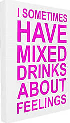 Stupell Industries Stupell Home Décor I Sometimes Have Mixed Drinks Pink Oversized Stretched Canvas Wall Art, 24 x 1.5 x 30, Proudly Made in USA