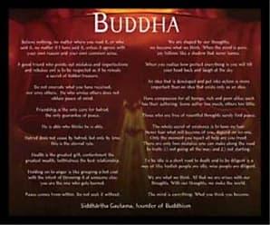 Buyartforless Buyartforless Framed Golden Buddha with Motivational Quotes 24x19 Art Print Poster Religious Zen Siddartha Gautama Buddhism