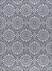 Tayse Chesterfield Transitional Geometric Charcoal Non-Skid Rectangle Area Rug, 5 x 7