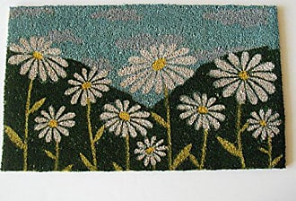 Geo Crafts Vinyl Back White Daisies Doormat