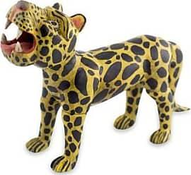 Novica Wood figurine, Jaguar Divinity