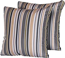 TK Classics Gold Stripe 18 x 18 in. Outdoor Throw Pillow - Set of 2 - PILLOW-GOLDSTR-S-2X