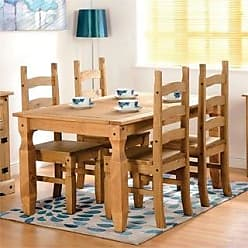 Overstock Corona 5 Piece White Wood Dining Room Set (Brown)