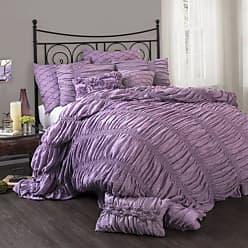 Lush Décor Madelynn 3-Piece Comforter Set, King, Purple