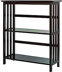 Yu Shan Casual Home Mission Style 3-Shelf Bookcase